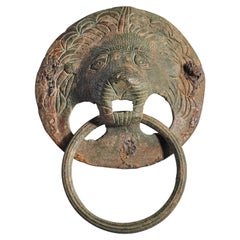 Roman Lion Head Attachment in Bronze, 2nd-3rd Century AD