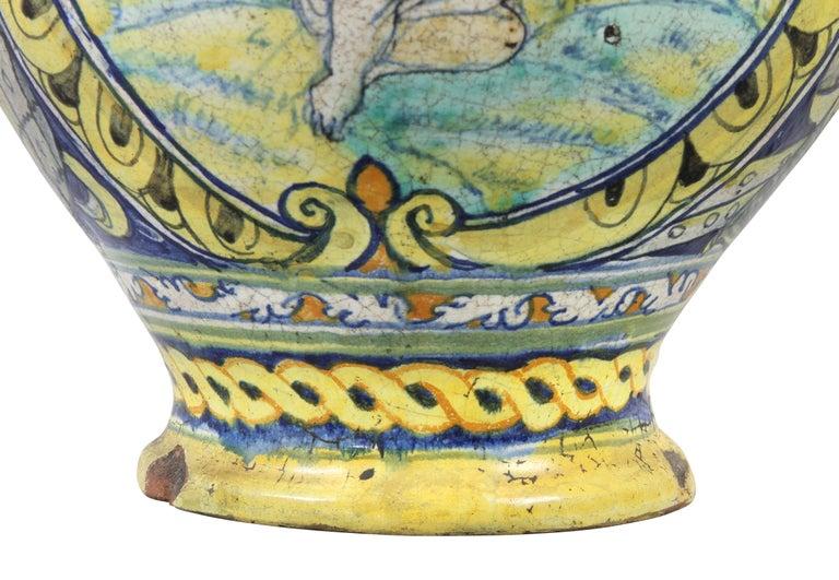 Italian Roman Majolica Pot For Sale