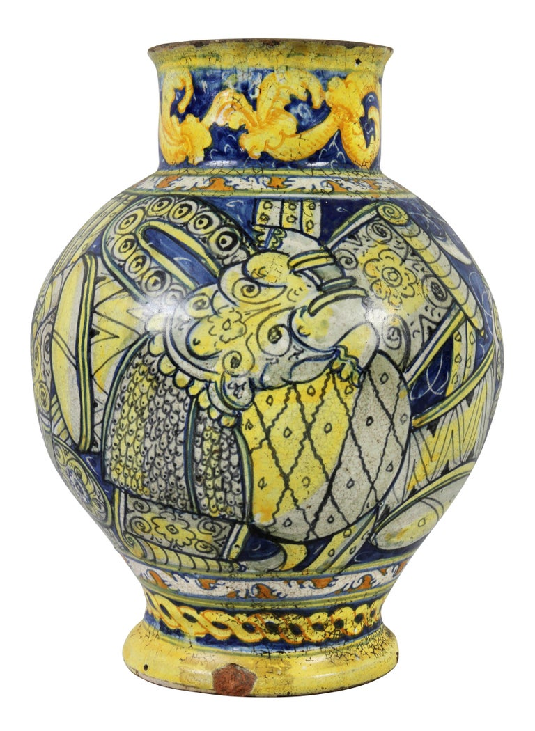 Roman Majolica Pot For Sale 1