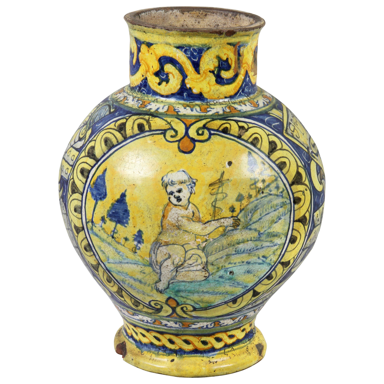 Roman Majolica Pot