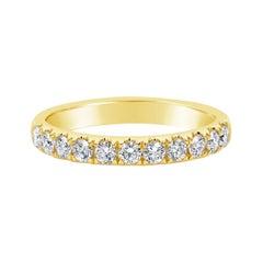 Roman Malakov 0.56 Carat Round Diamond Half-Way Wedding Band