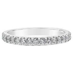Roman Malakov 0.65 Carat Total Round Diamond Eternity Wedding Band