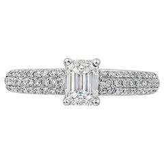 Roman Malakov, 0.80 Carat Emerald Cut Diamond Engagement Ring