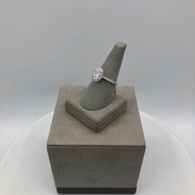 Roman Malakov 1.05 Carat Oval Cut Diamond Halo Engagement Ring For Sale 3