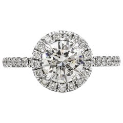 Roman Malakov 1.22 Carat Round Diamond Halo Engagement Ring