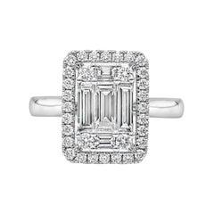 Roman Malakov 1.24 Carat Cluster Diamond Halo Engagement Ring