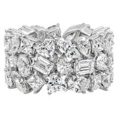 Roman Malakov 12.87 Carat Fancy Cut Diamond Eternity Ring