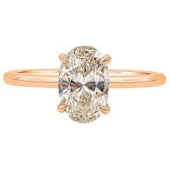 Roman Malakov 1.49 Carat Oval Cut Diamond Solitaire Engagement Ring