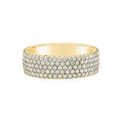 Roman Malakov 1.75 Carat Round Diamond Five-Row Fashion Ring