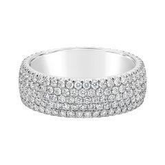Roman Malakov 1.78 Carat Round Diamond Micro-Pave Band Ring