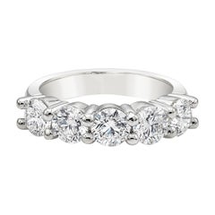 Roman Malakov 2.03 Carat Round Diamond Five-Stone Wedding Band