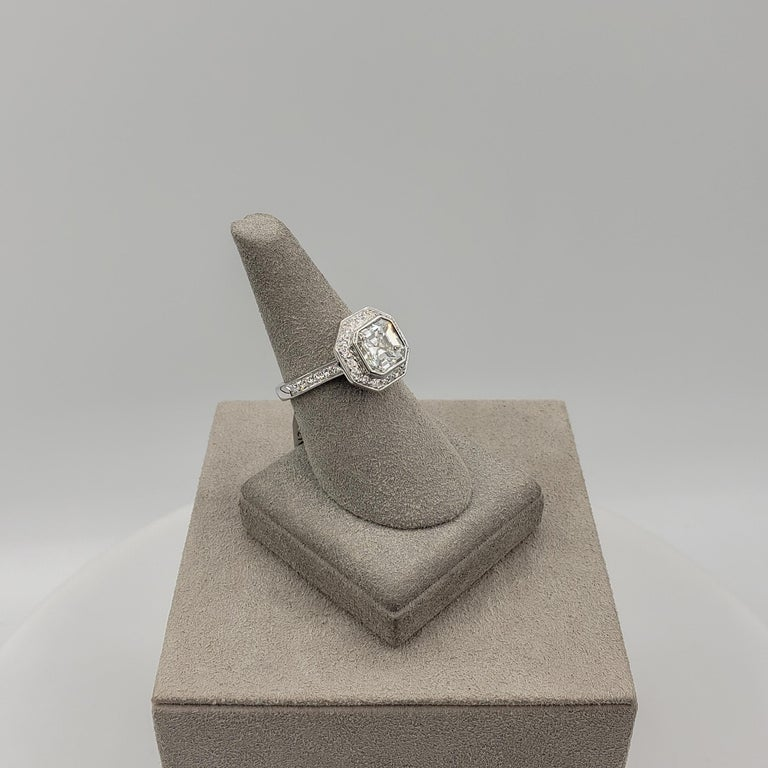 Roman Malakov 2.07 Carat Asscher Cut Diamond Halo Engagement Ring For Sale 1