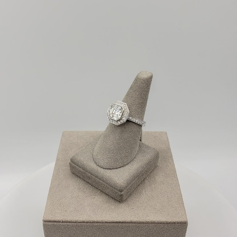 Roman Malakov 2.07 Carat Asscher Cut Diamond Halo Engagement Ring For Sale 2