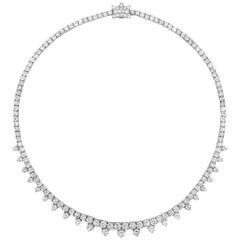 Roman Malakov 20.74 Carat Round Diamond Necklace