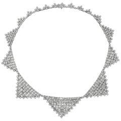 Roman Malakov 22.33 Carat Round and Baguette Diamond Necklace