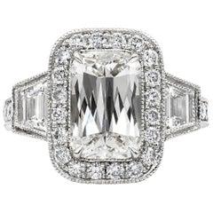 Roman Malakov 3.00 Carat Elongated Cushion Cut Diamond Halo Engagement Ring