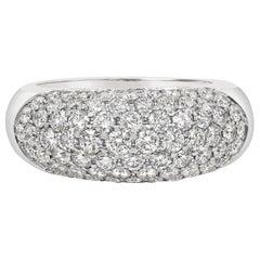 Roman Malakov 3.75 Carat Diamond Concave Dome Ring