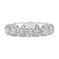 Roman Malakov 4.22 Carat Round Diamond Eternity Wedding Band