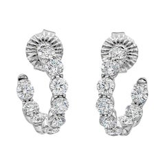 Roman Malakov 4.79 Carat Round Diamond Inside-Out Hoop Earrings