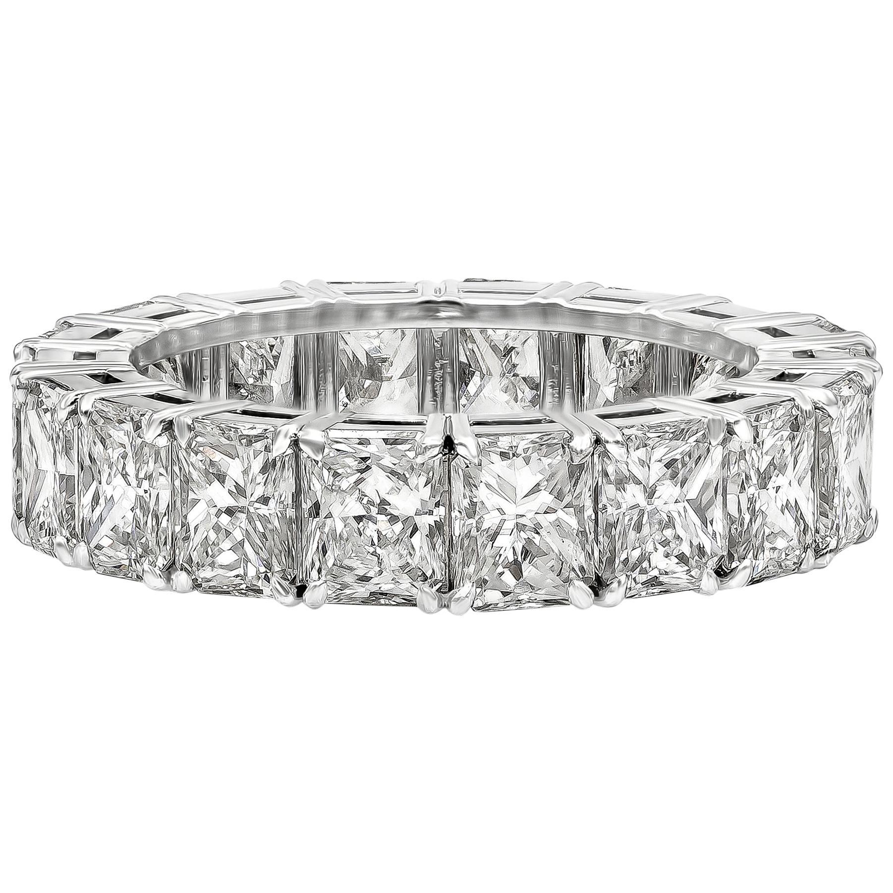 Roman Malakov 6.24 Carat Radiant Cut Diamond Eternity Wedding Band