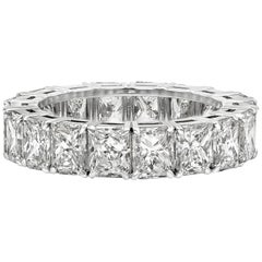 Roman Malakov 6.24 Carat Radiant Cut Diamond Eternity Wedding Band