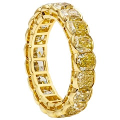 Roman Malakov 6.40 Carat Intense Yellow Diamond Eternity Wedding Band