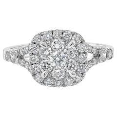 Roman Malakov, Cluster Diamond Cushion Shape Halo Engagement Ring