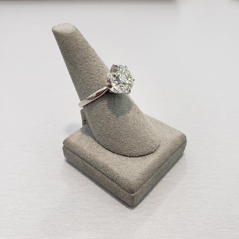 Roman Malakov GIA Certified 4.01 Carat Round Diamond Solitaire Engagement Ring For Sale 1