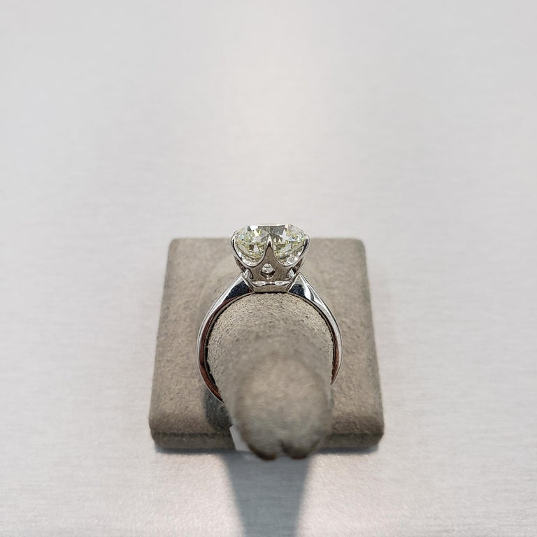 Roman Malakov GIA Certified 4.01 Carat Round Diamond Solitaire Engagement Ring For Sale 2