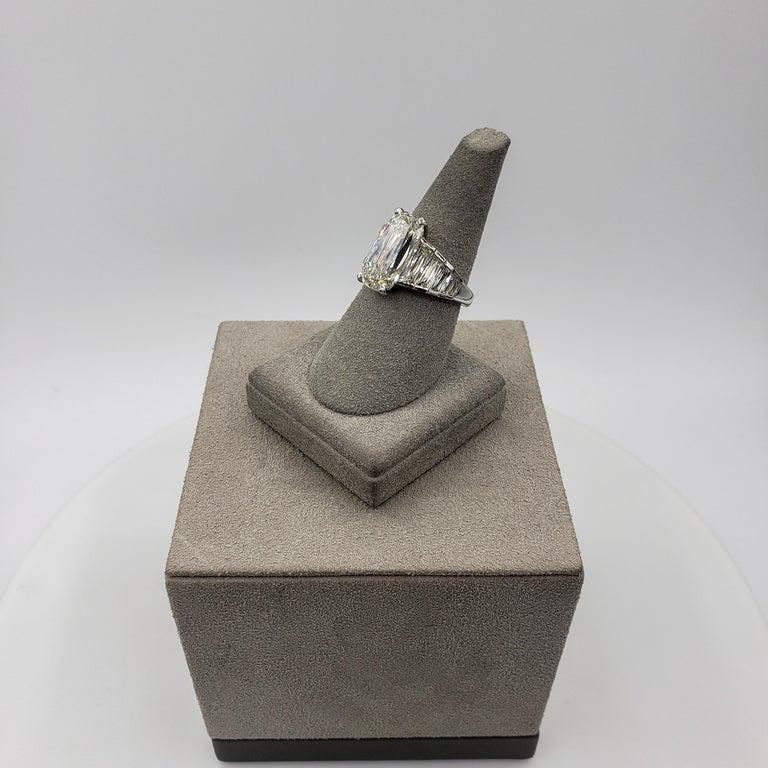 Roman Malakov GIA Certified 5.60 Carat Elongated Cushion Diamond Engagement Ring For Sale 4