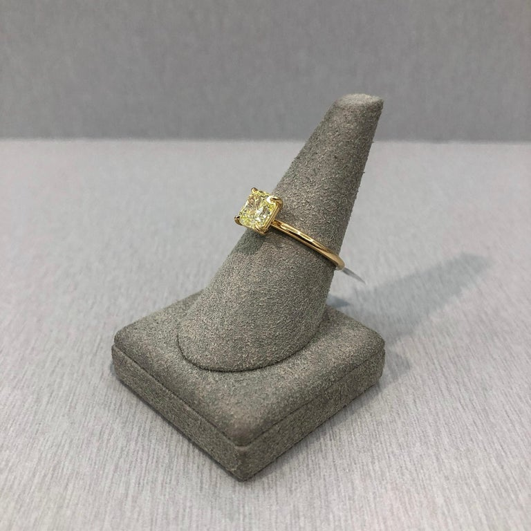 Roman Malakov GIA Certified Intense Yellow Diamond Solitaire Engagement Ring For Sale 1