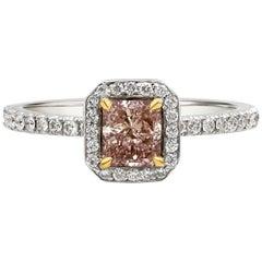 Roman Malakov GIA Certified Pink Diamond Halo Engagement Ring