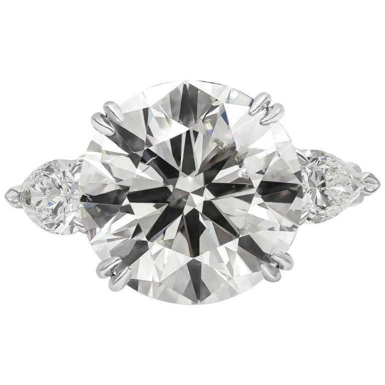 Roman Malakov GIA Certified Round Diamond Three-Stone Engagement Ring For Sale