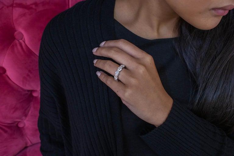 Women's Roman Malakov Oval Cut Diamond East-West Eternity Wedding Band For Sale