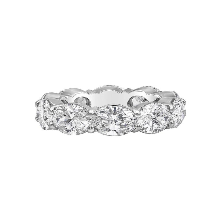 Roman Malakov Oval Cut Diamond East-West Eternity Wedding Band For Sale