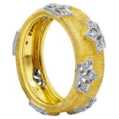 Roman Malakov Round Diamond Brushed Yellow Gold Crown Fashion Ring