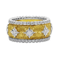 Roman Malakov Round Diamond Brushed Yellow Gold Fashion Ring