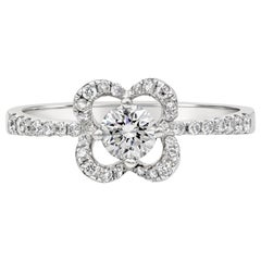 Roman Malakov Round Diamond Compass Set Floral Halo Engagement Ring