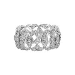 Roman Malakov Round Diamond Open-Work Fashion Band Ring