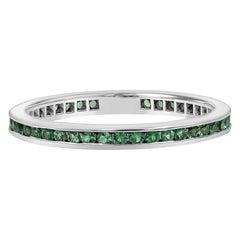 Roman Malakov Round Emerald Eternity Wedding Band