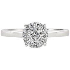 Roman Malakov, White Gold Cluster Diamond Solitaire Engagement Ring