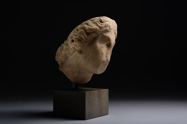 Roman Marble Head of Athena For Sale 2
