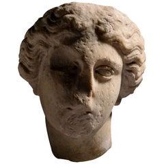 Roman Marble Head of Athena, 1st Century AD