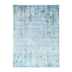 Roman Mosaic Design Handmade Modern Wool and Silk Oriental Rug