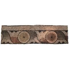 Roman Mosaic with a Wavy Lotus Flower Motive.