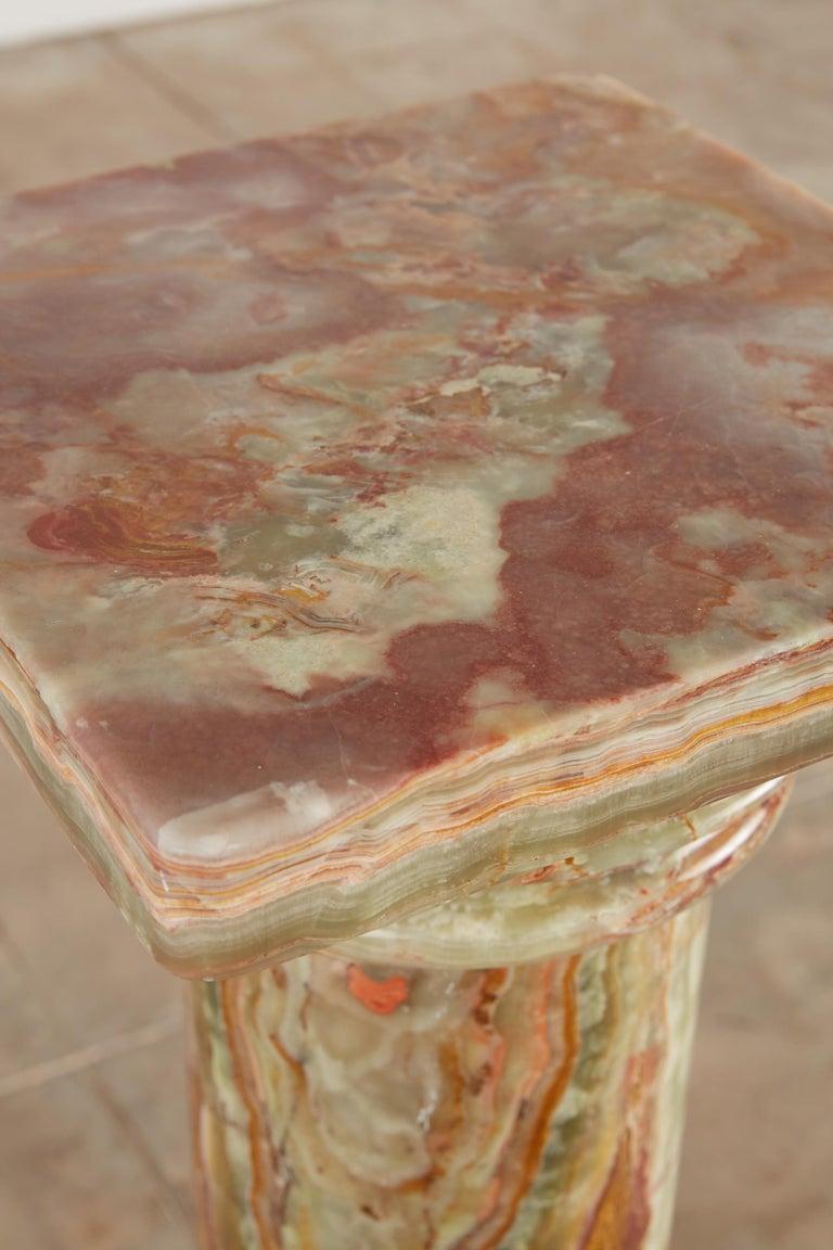 Roman Style Onyx Pedestal For Sale 4
