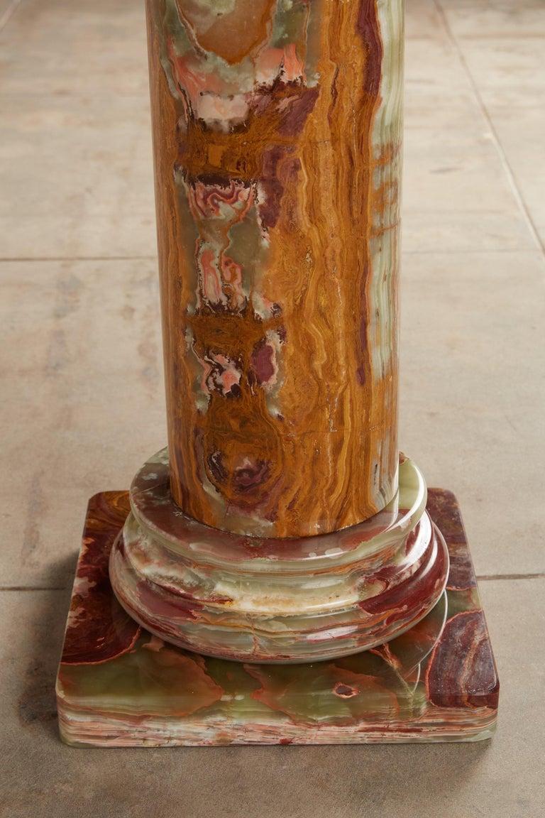 Roman Style Onyx Pedestal For Sale 6