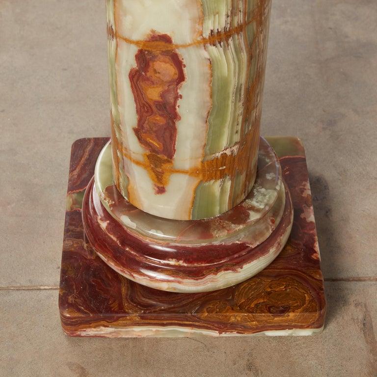 Roman Style Onyx Pedestal For Sale 9