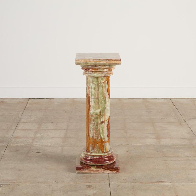 Classical Roman Roman Style Onyx Pedestal For Sale