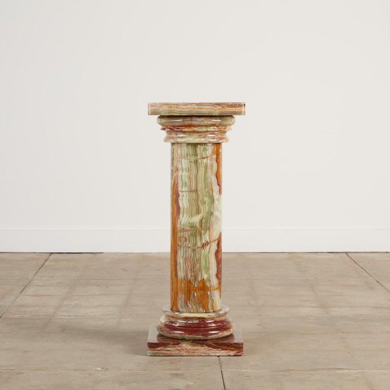 20th Century Roman Style Onyx Pedestal For Sale
